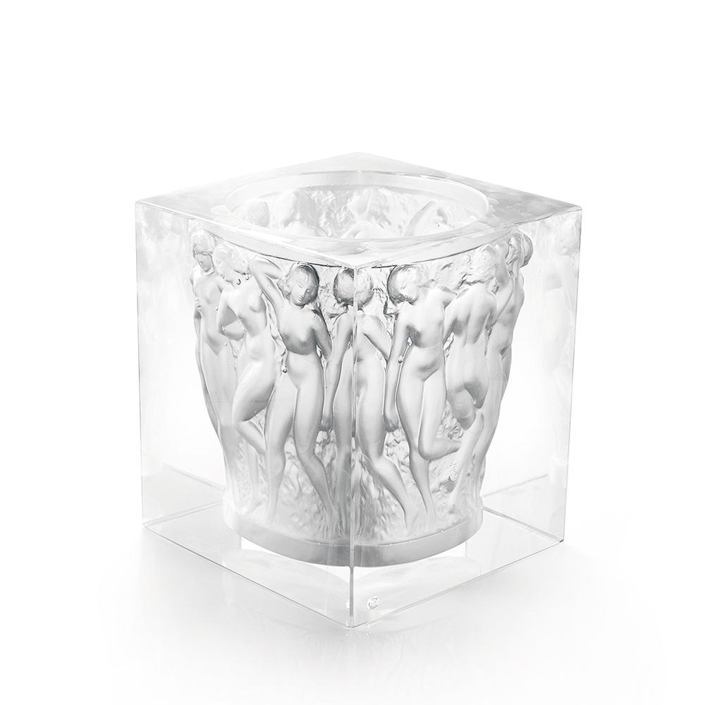 Révélation Bacchantes vase | Limited edition (99 pieces), clear crystal | Vase Lalique
