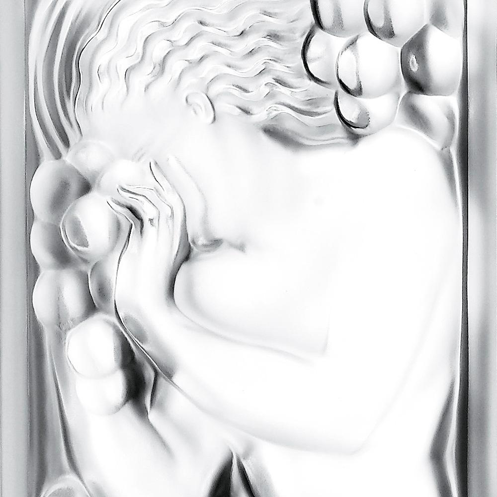 Figurine et Raisins decorative panel | Clear crystal | Interior Design Lalique