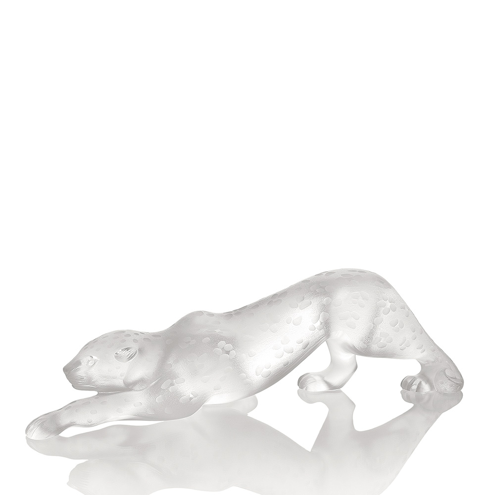 Zeila Panther sculpture | Limited edition (49 pieces), clear crystal | Sculpture Lalique