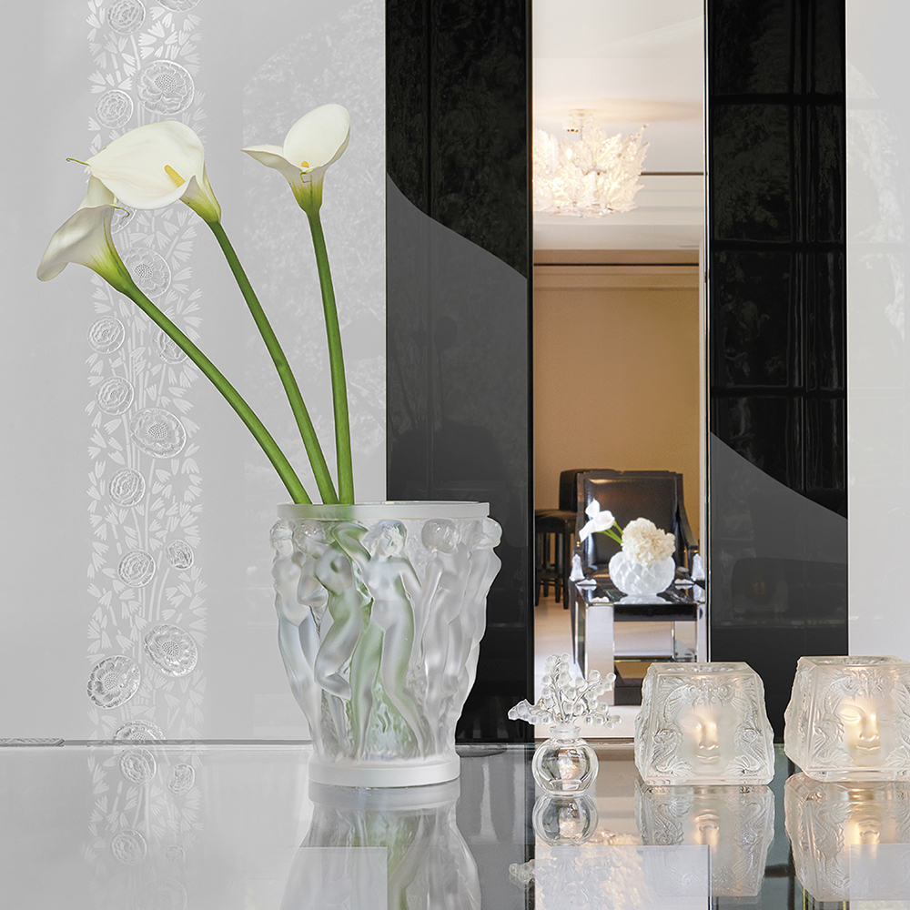 Masque de Femme votive | Clear crystal | Candleholder & votive Lalique