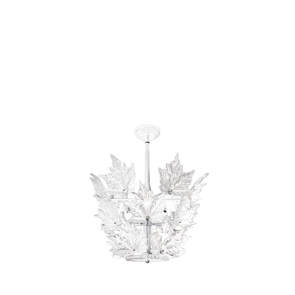 Champs-Élysées chandelier | Clear crystal, chrome finish (3 tiers) | Interior Design Lalique