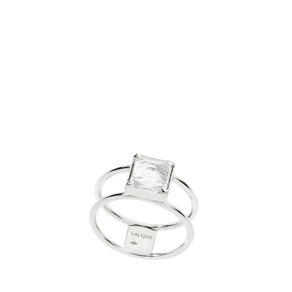 Rayonnante ring | Clear crystal, silver | Costume jewellery Lalique