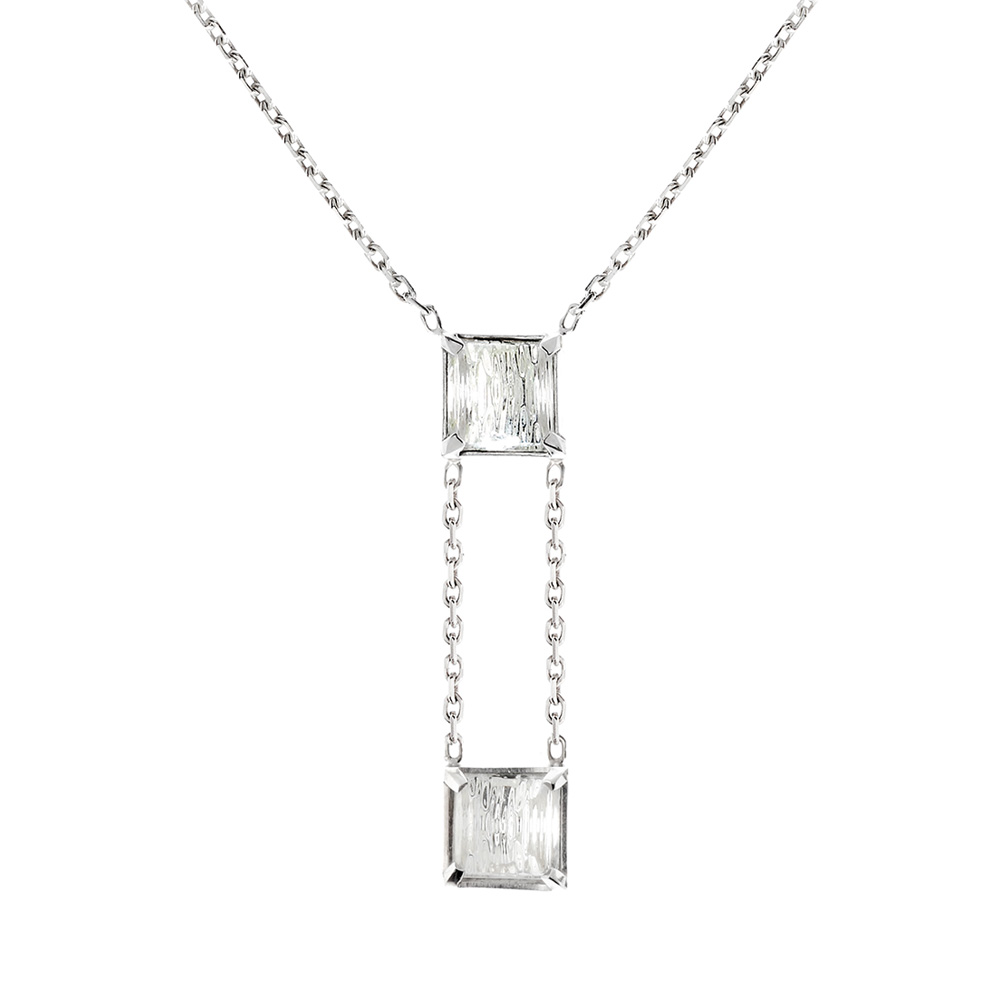Rayonnante necklace | Clear crystals, silver | Costume jewellery Lalique