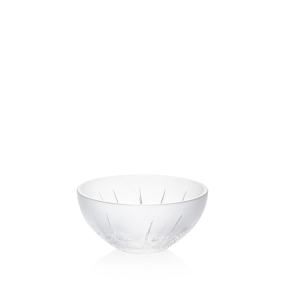 Ombelles small bowl, hollow | Clear crystal | Small bowl Lalique