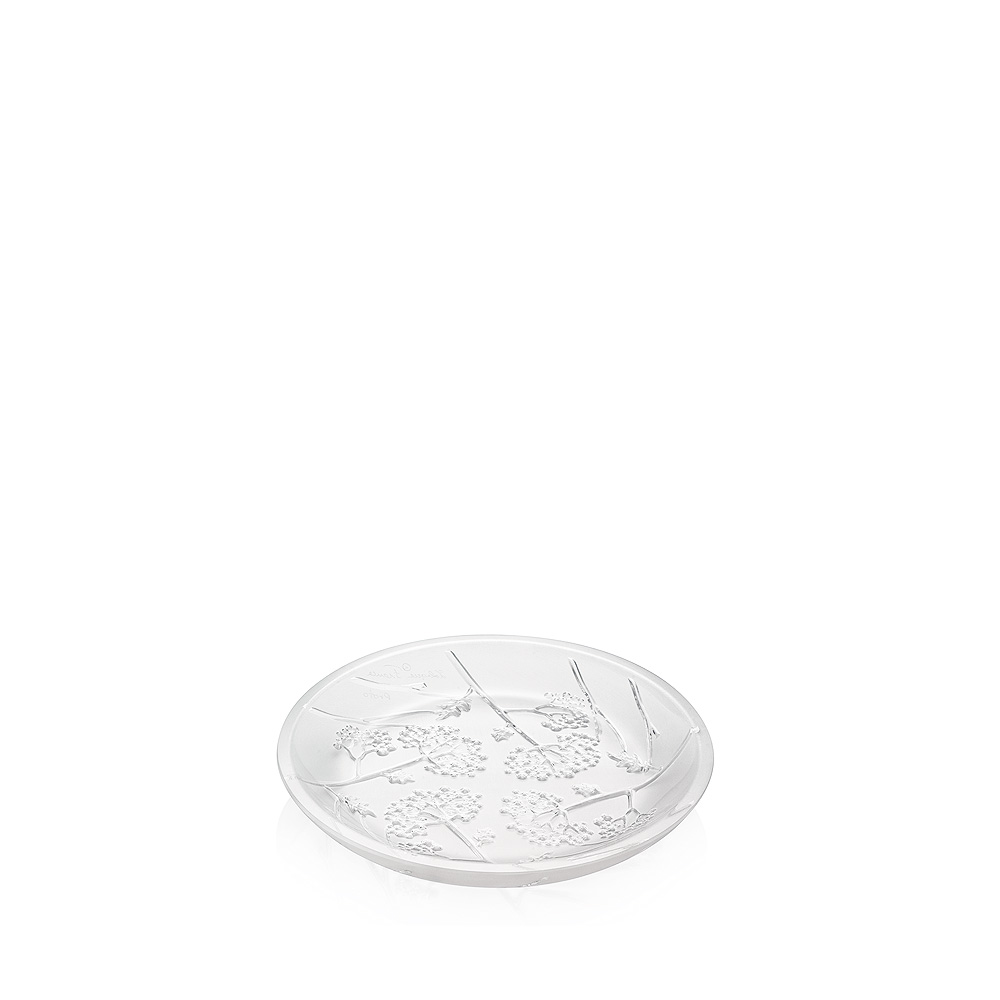 Ombelles small bowl, flat | Clear crystal | Small bowl Lalique