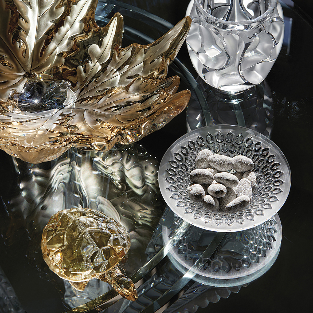 Caroline Turtle sculpture | Gold luster crystal | Sculpture Lalique