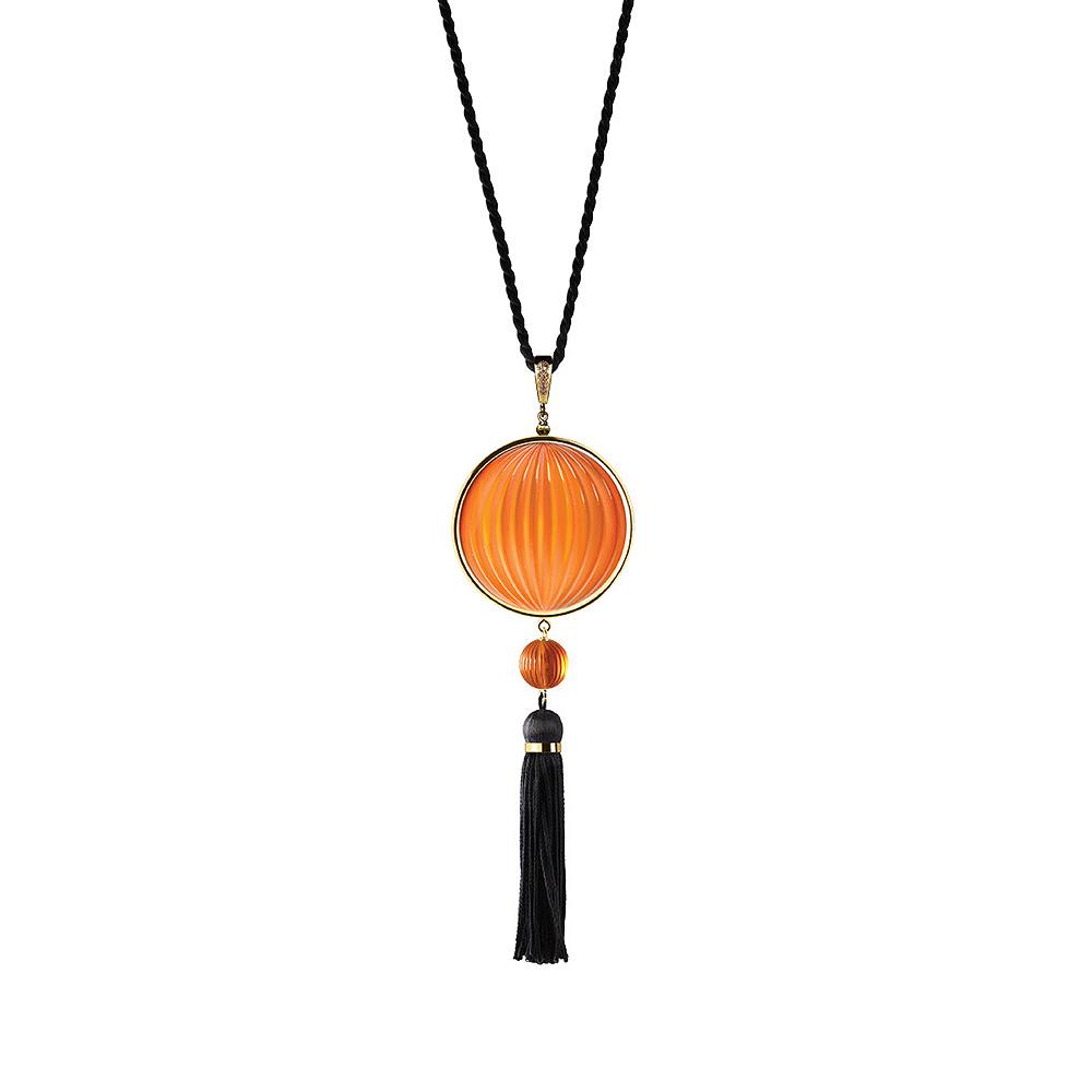 Vibrante pendant | Amber crystal, diamonds, yellow gold | Fine jewellery Lalique