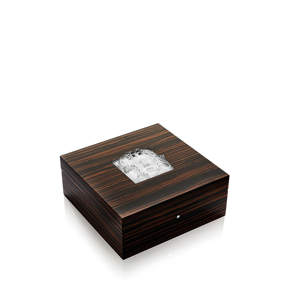 masque de femme jewellery box macassar ebony with clear crystal box lalique lalique. Black Bedroom Furniture Sets. Home Design Ideas