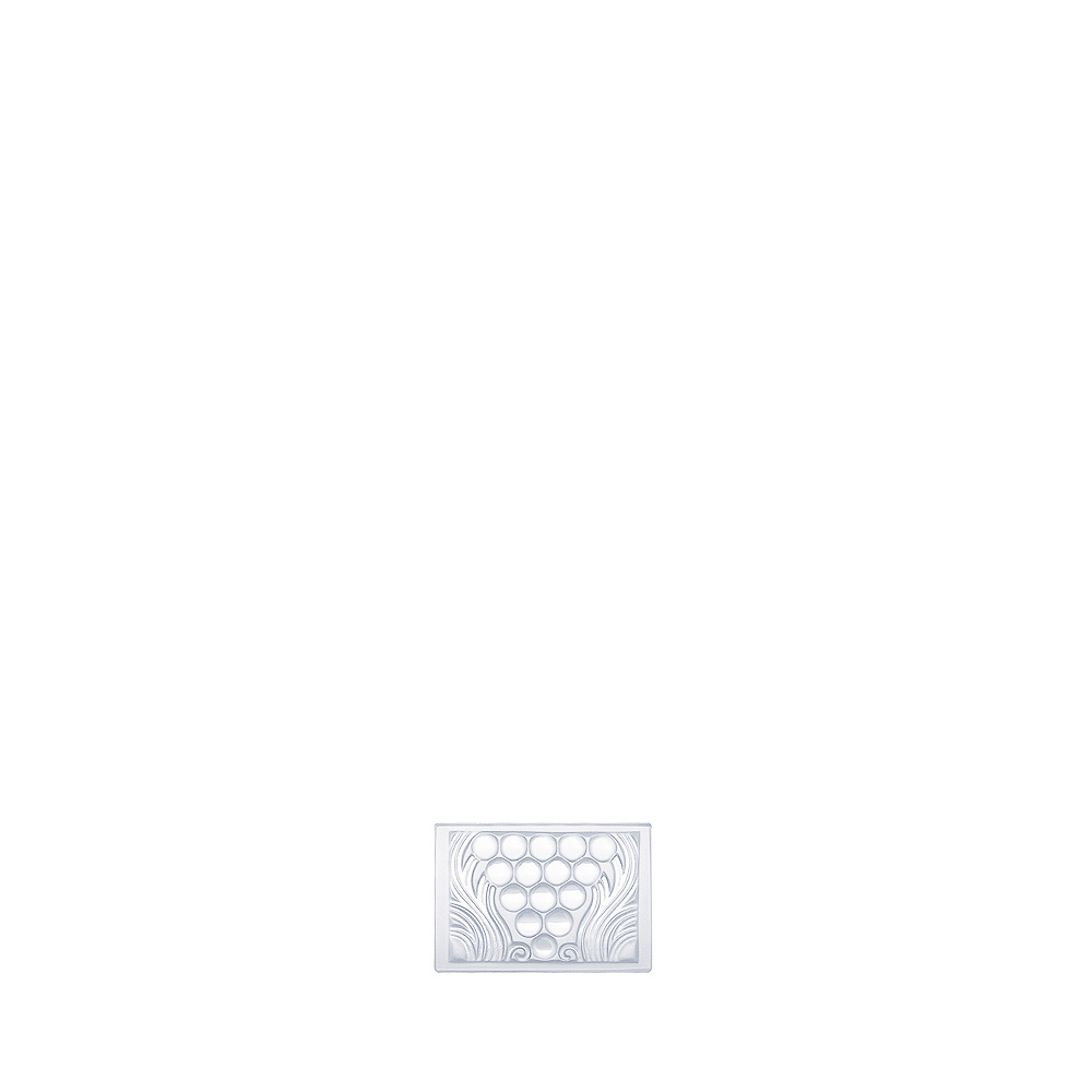 Raisins decorative panel | Clear crystal | Interior Design Lalique