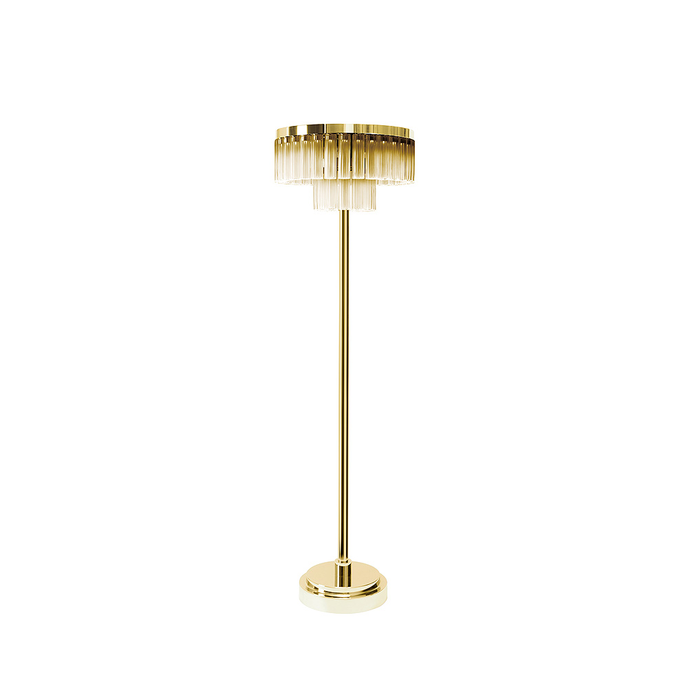 Orgue Floor Lamp Gold Luster Crystal Gilded Finish 2