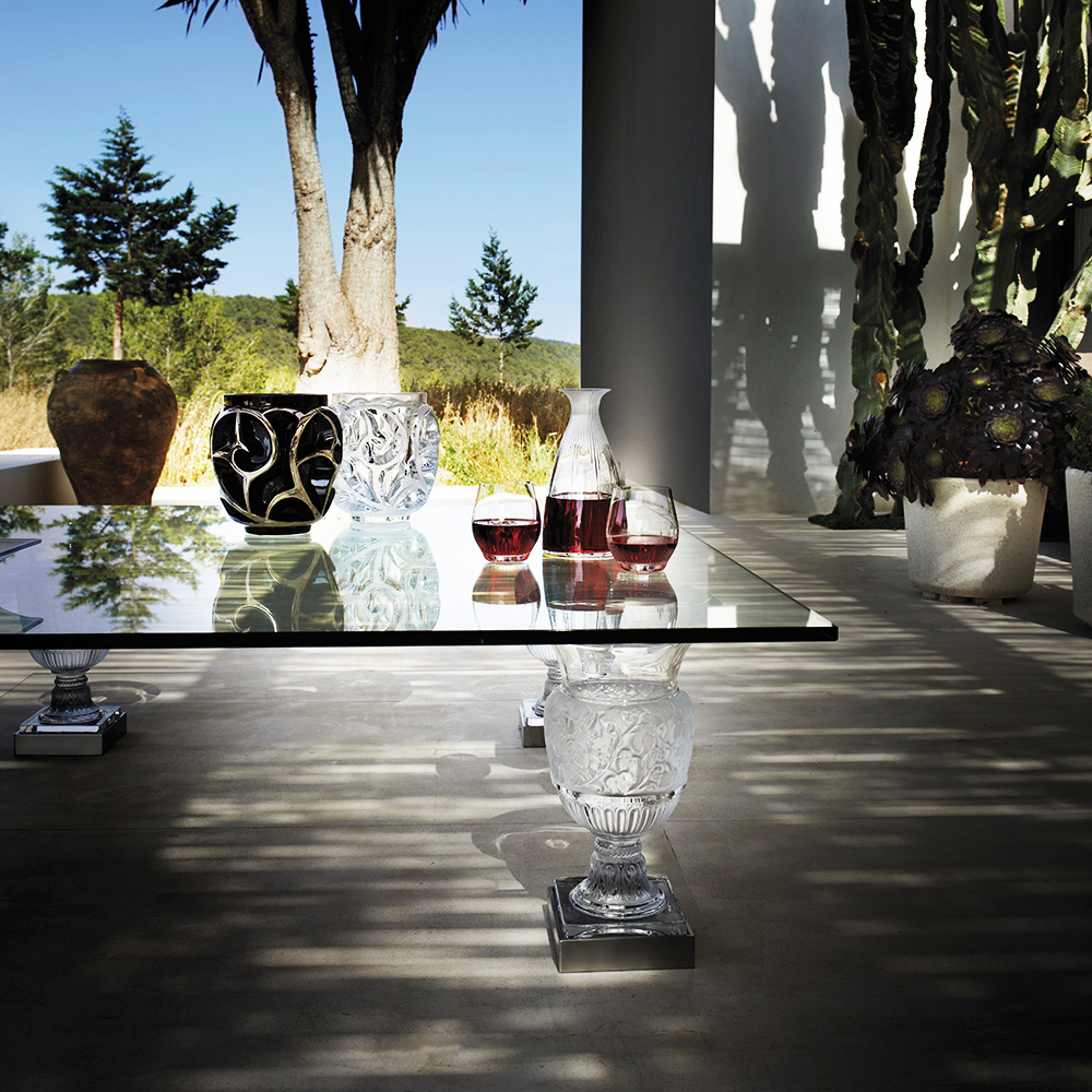 Versailles coffee table | Clear crystal, 1 table foot | Interior Design Lalique
