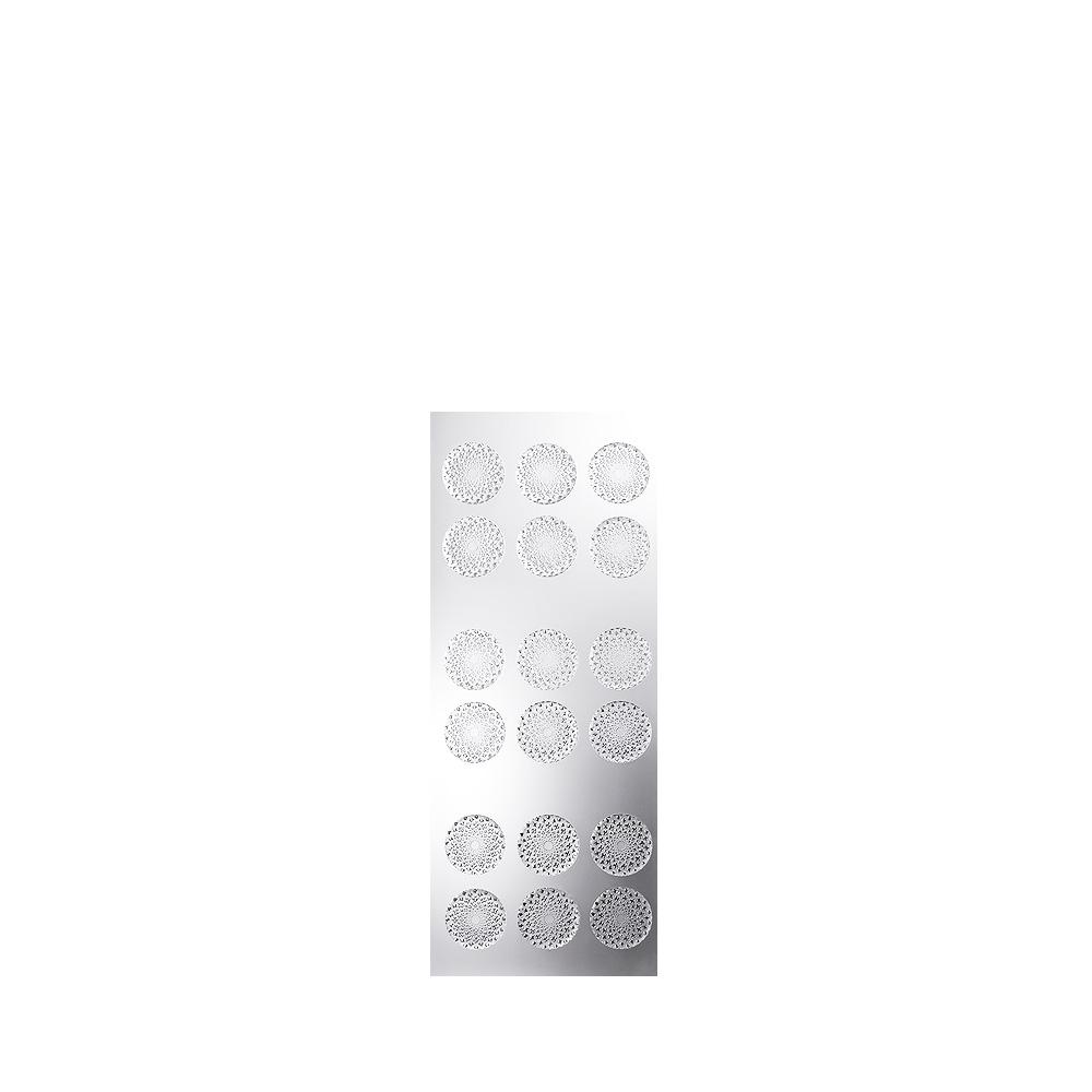 Venise interior panel | Clear crystal, satin finish glass | Interior Design Lalique