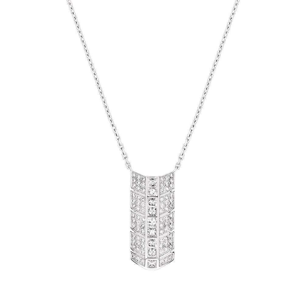 Éros pendant | Diamonds, white gold | Fine jewellery Lalique