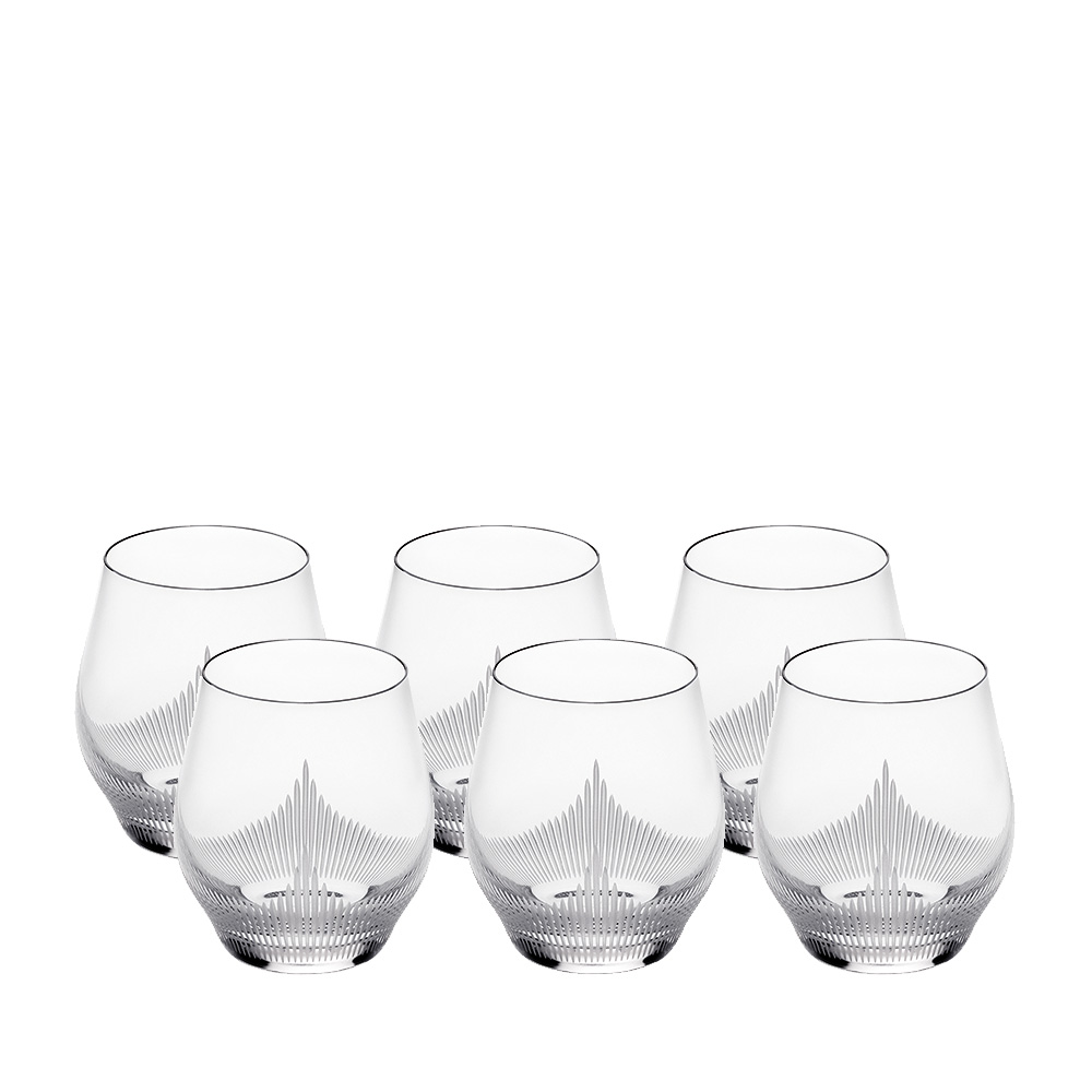 Set of 6 tumblers 100 POINTS | 100 POINTS by James Suckling, clear crystal | Glass Lalique