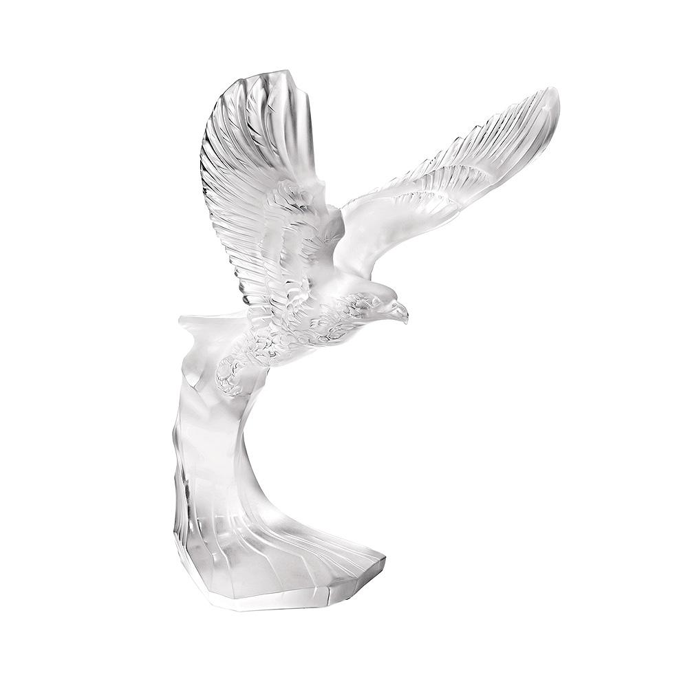 Golden Eagle sculpture | Clear crystal | Sculpture Lalique