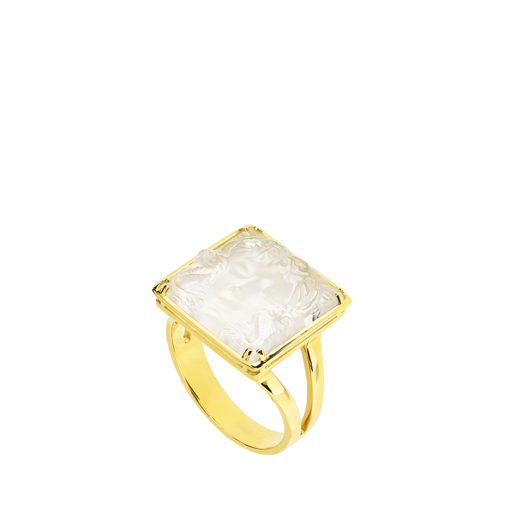 Aréthuse ring | Clear crystal, yellow gold | Fine jewellery Lalique
