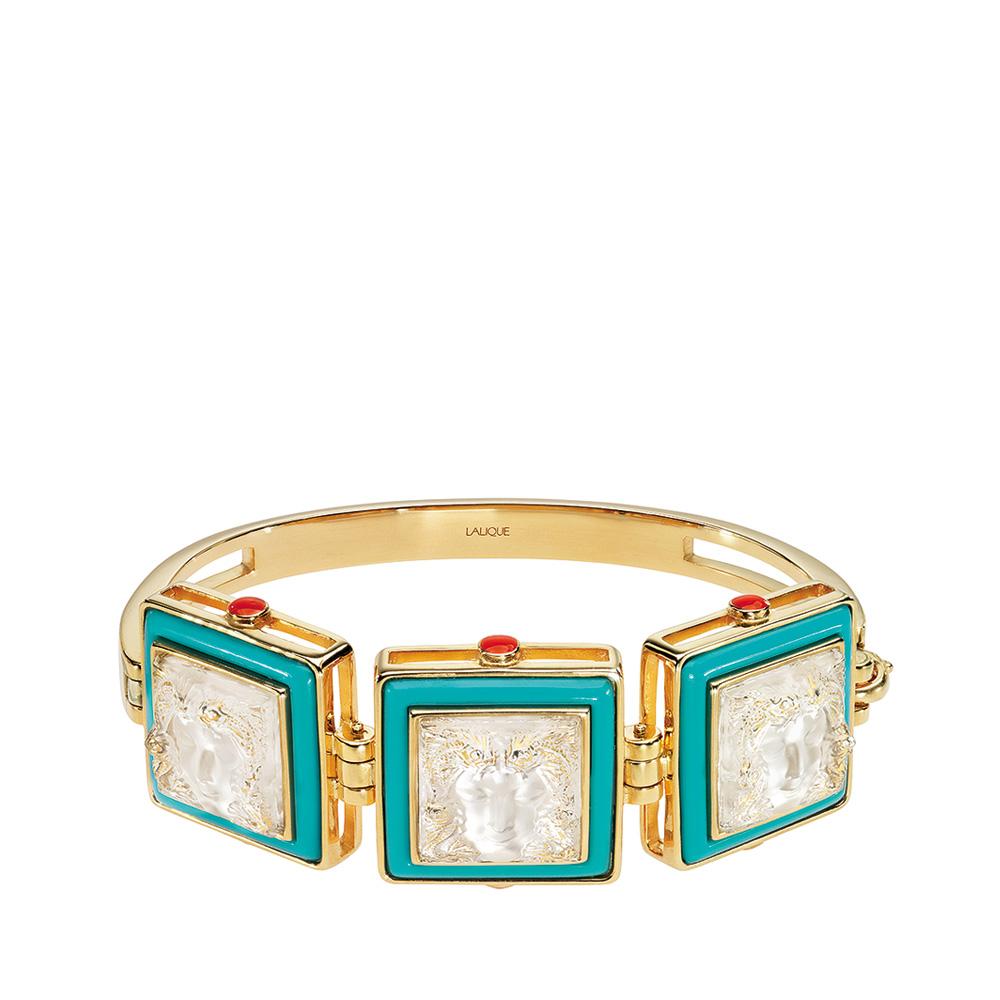 Aréthuse bracelet | Clear crystal, vermeil | Costume jewellery Lalique
