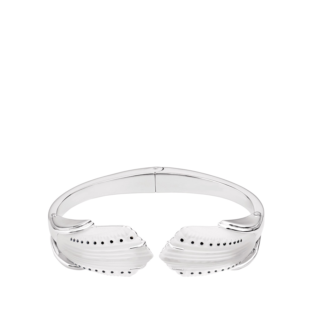 Icône bracelet | Clear crystal, silver | Costume jewellery Lalique