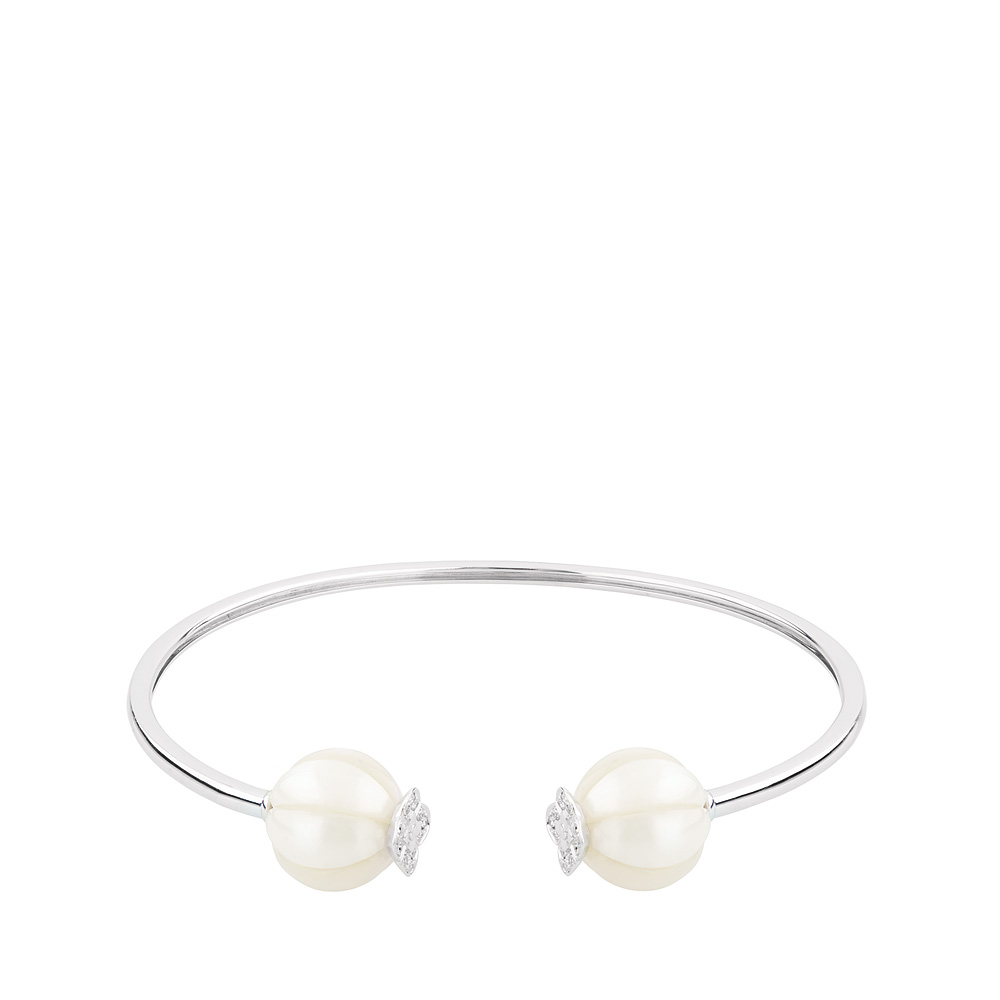 Muguet bracelet | Fresh water cultured pearls and diamonds, white gold | Fine jewellery Lalique