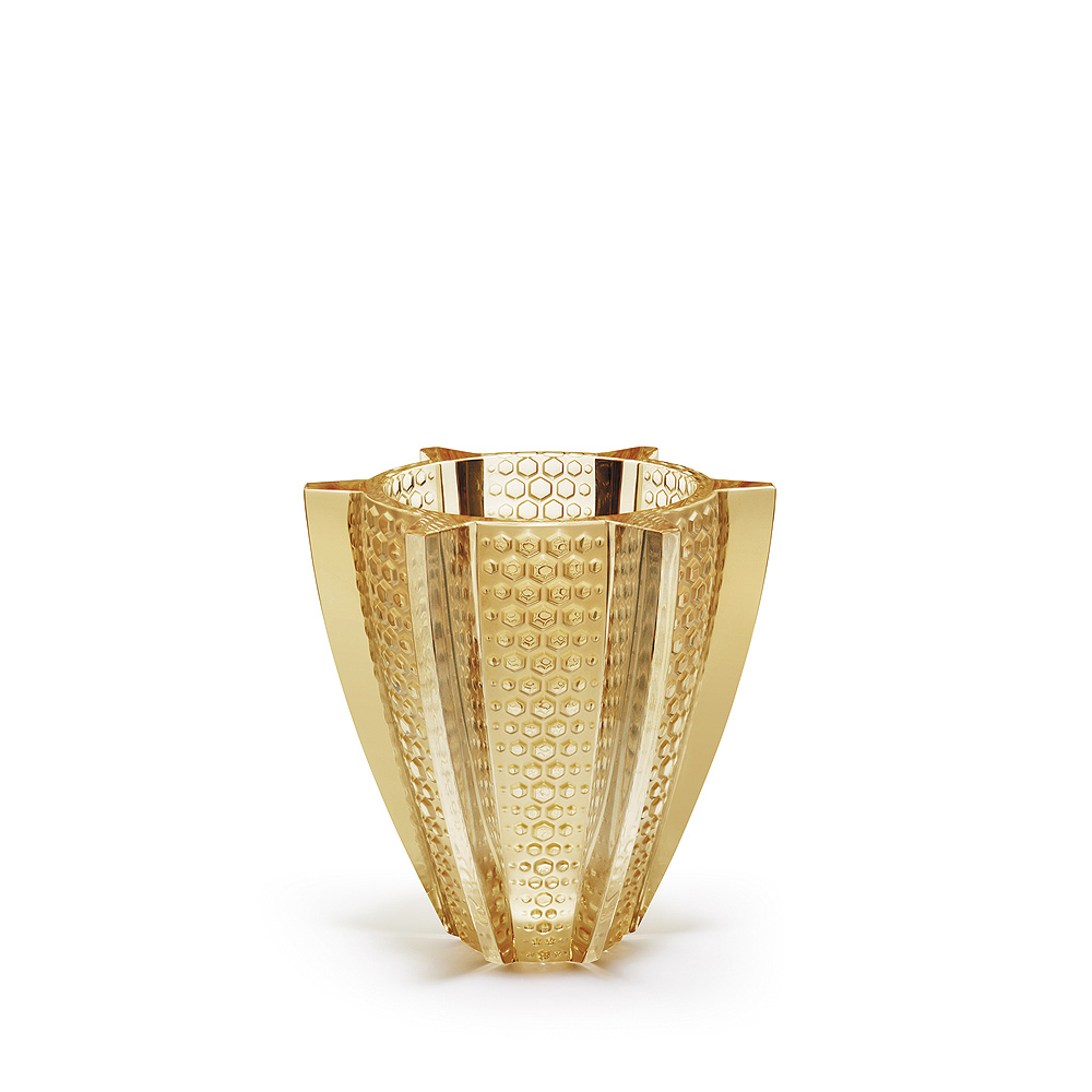 Rayons small vase Gold luster crystal