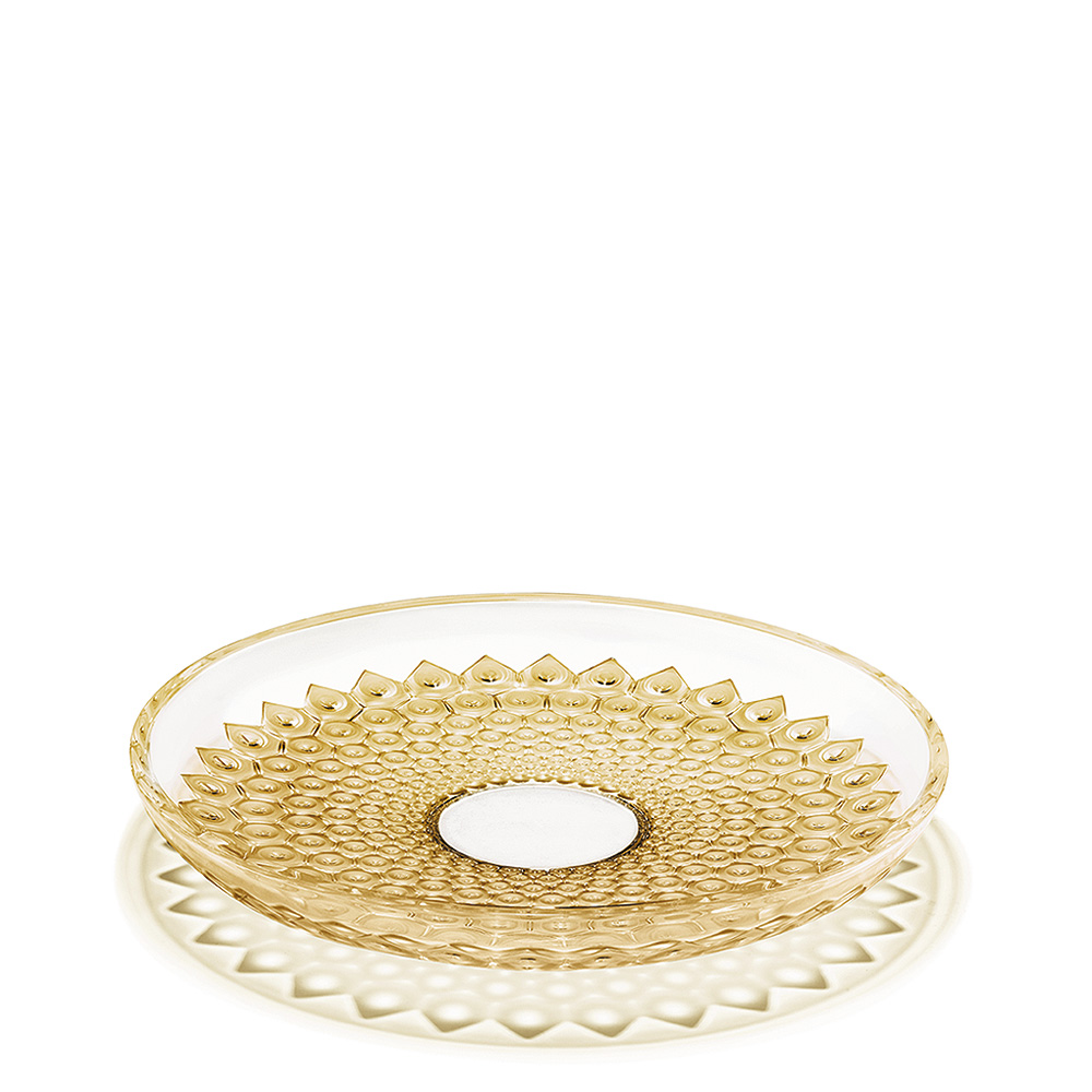 Rayons bowl | Gold luster crystal | Bowl Lalique