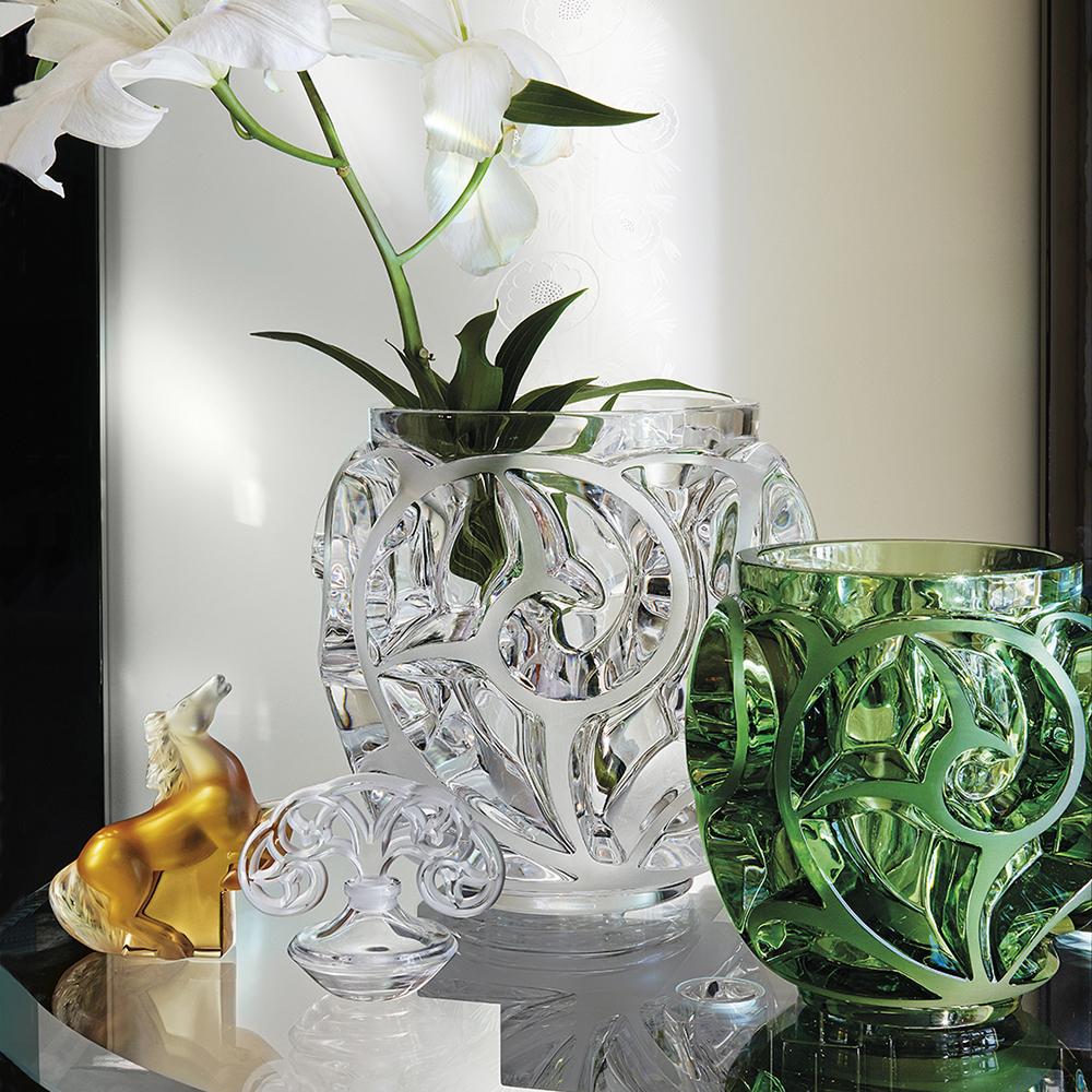 Tourbillons grand vase | Clear crystal | Vase Lalique