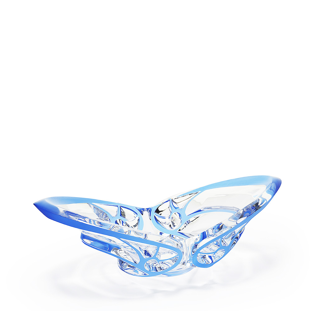 Tourbillons bowl | Clear crystal, blue platinated | Bowl Lalique