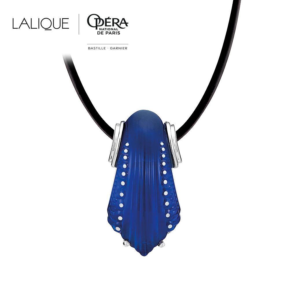 Icone Pendant | Blue Cap-Ferrat crystal, silver | Costume jewellery Lalique