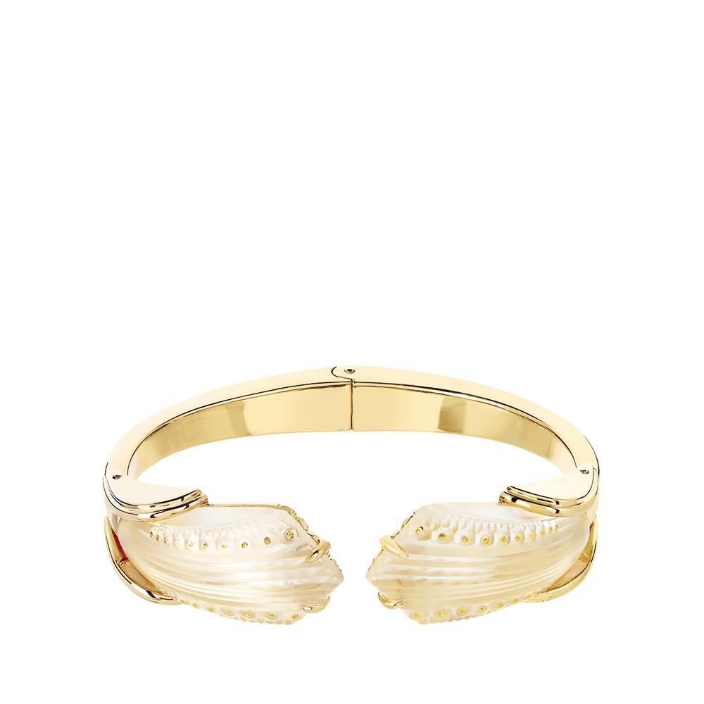 Icone Bracelet | Clear crystal, vermeil | Costume jewellery Lalique