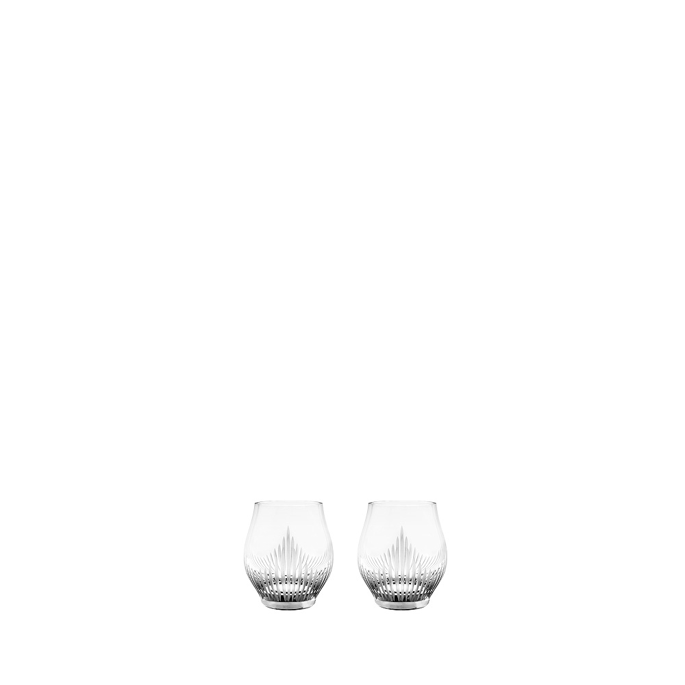 Set of 2 shot glasses 100 POINTS | 100 POINTS by James Suckling, clear crystal | Glass Lalique