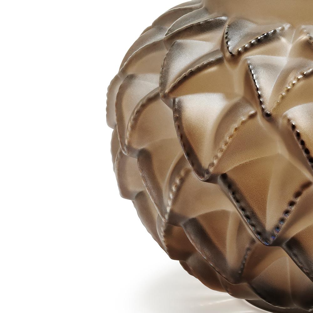 Languedoc small vase | Bronze crystal | Lalique crystal vase
