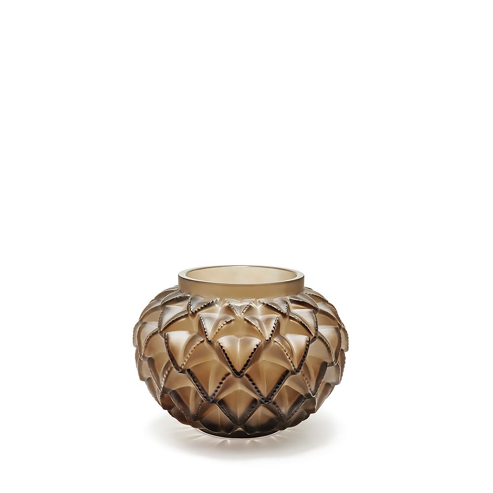 Languedoc small vase   Bronze crystal   Lalique crystal vase