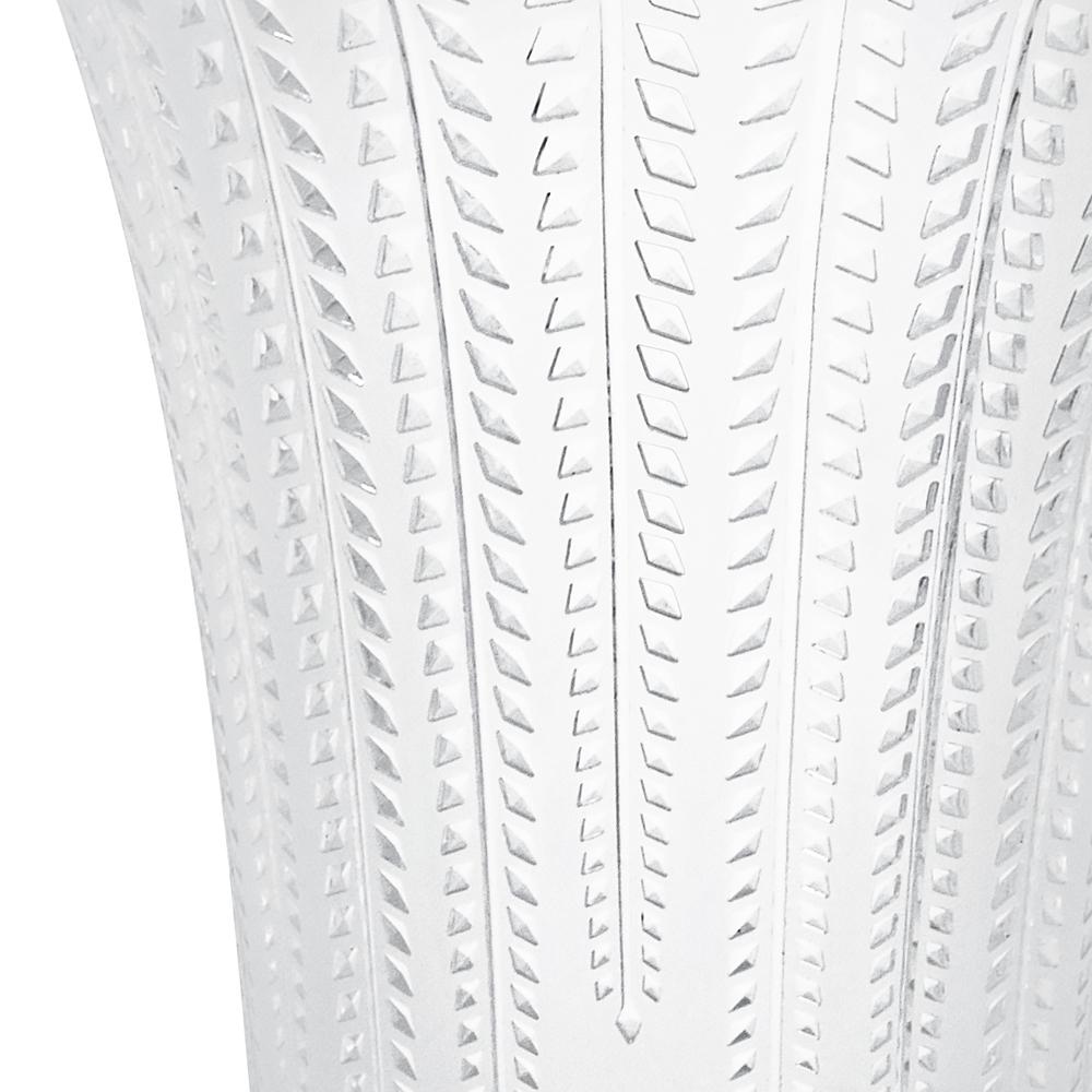 Glycines vase | Clear crystal, flared | Vase Lalique