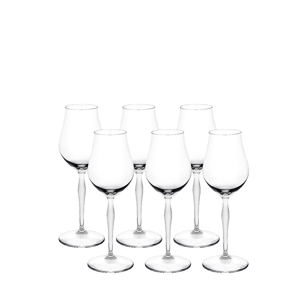 Set of 6 Cognac glasses 100 POINTS | 100 POINTS by James Suckling, clear crystal | Glass Lalique