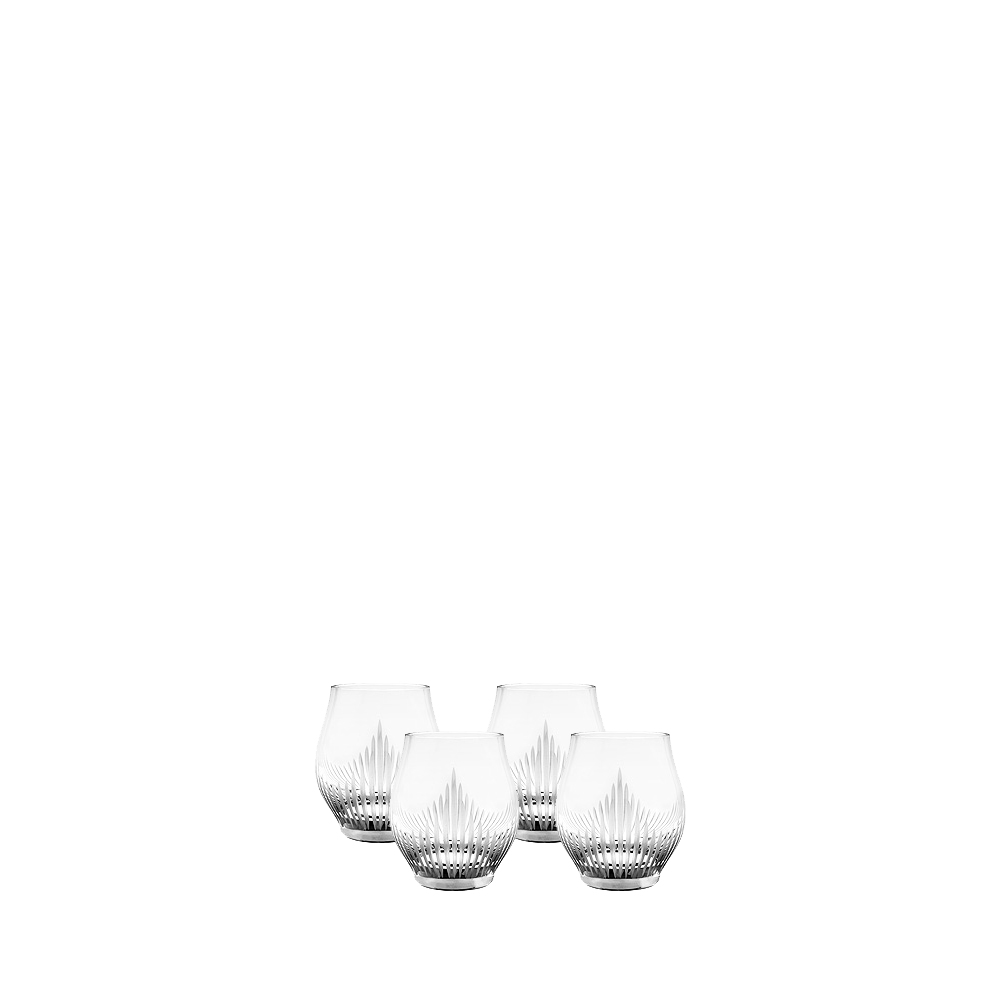 Set of 4 shot glasses 100 POINTS | 100 POINTS by James Suckling, clear crystal | Glass Lalique