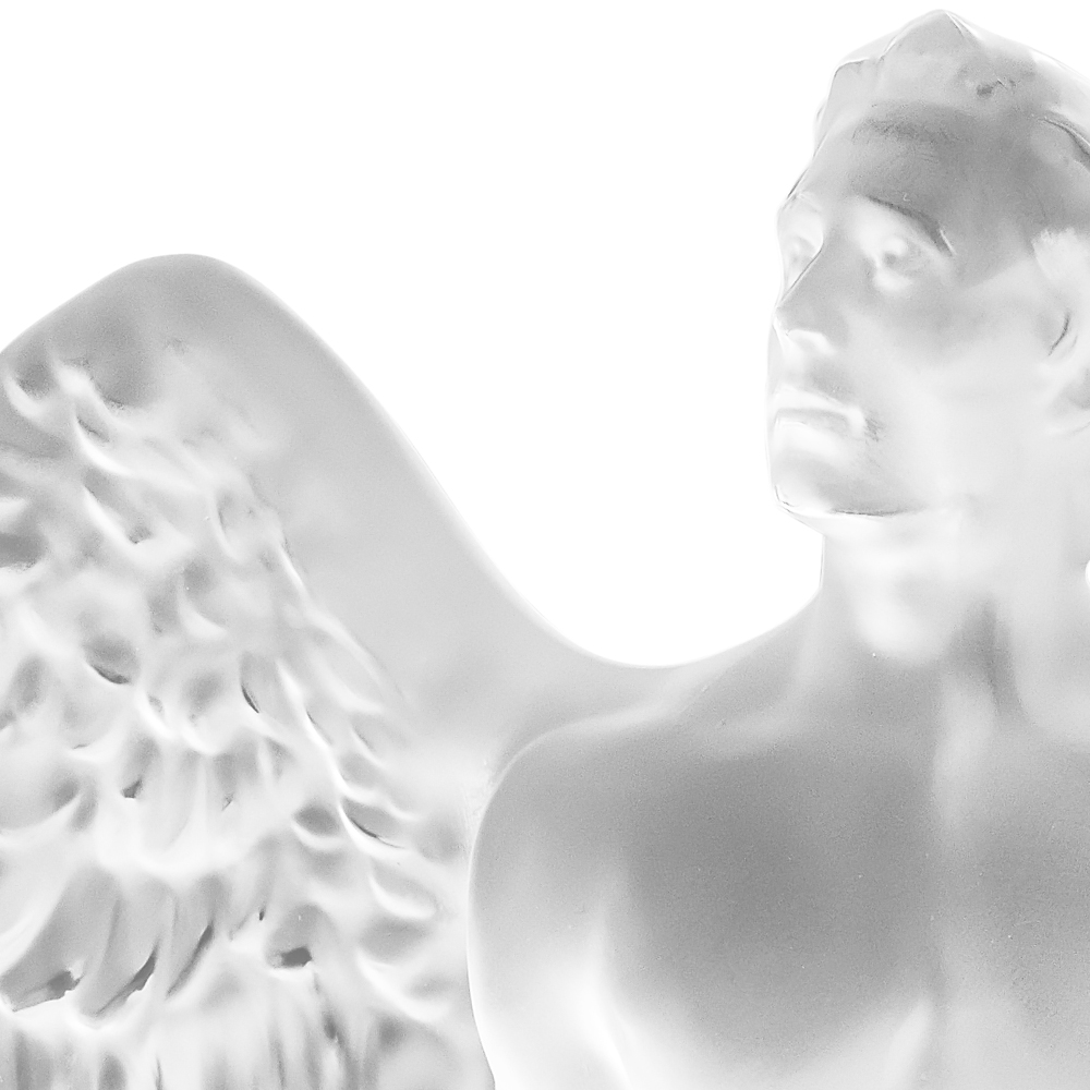 ELTON JOHN MUSIC IS LOVE FOR LALIQUE | MUSIC IS LOVE Angel sculpture | Limited edition of 999 pieces, clear crystal | Lalique crystal sculpture