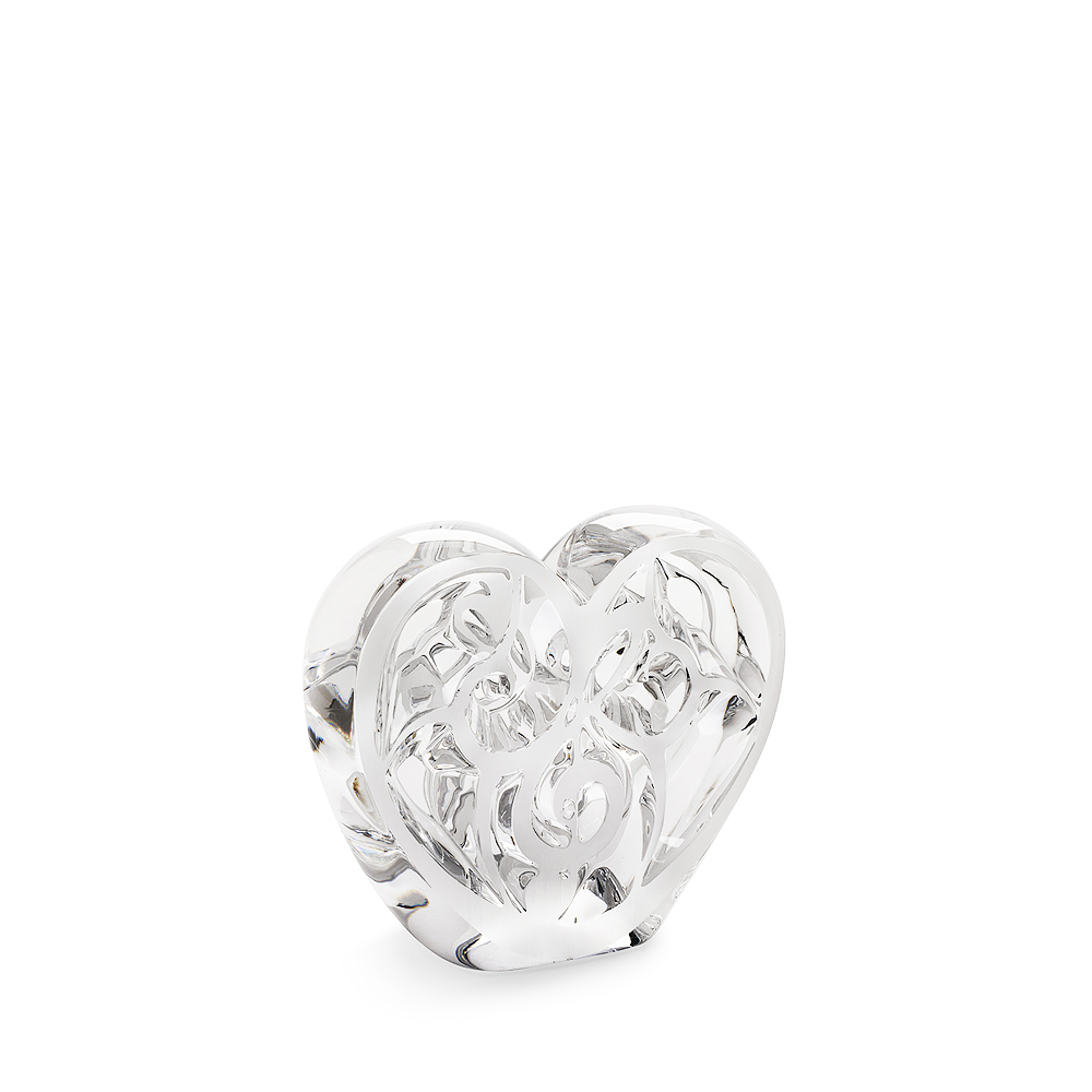 ELTON JOHN MUSIC IS LOVE FOR LALIQUE | MUSIC IS LOVE Heart sculpture | Limited edition of 999 pieces, clear crystal | Lalique crystal sculpture