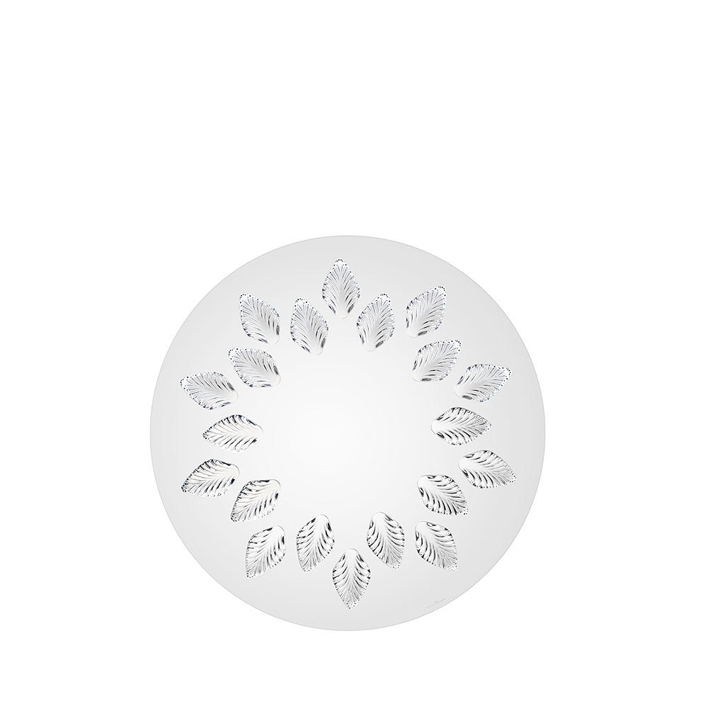Languedoc mirror | Clear crystal, round, large size | Interior Design Lalique