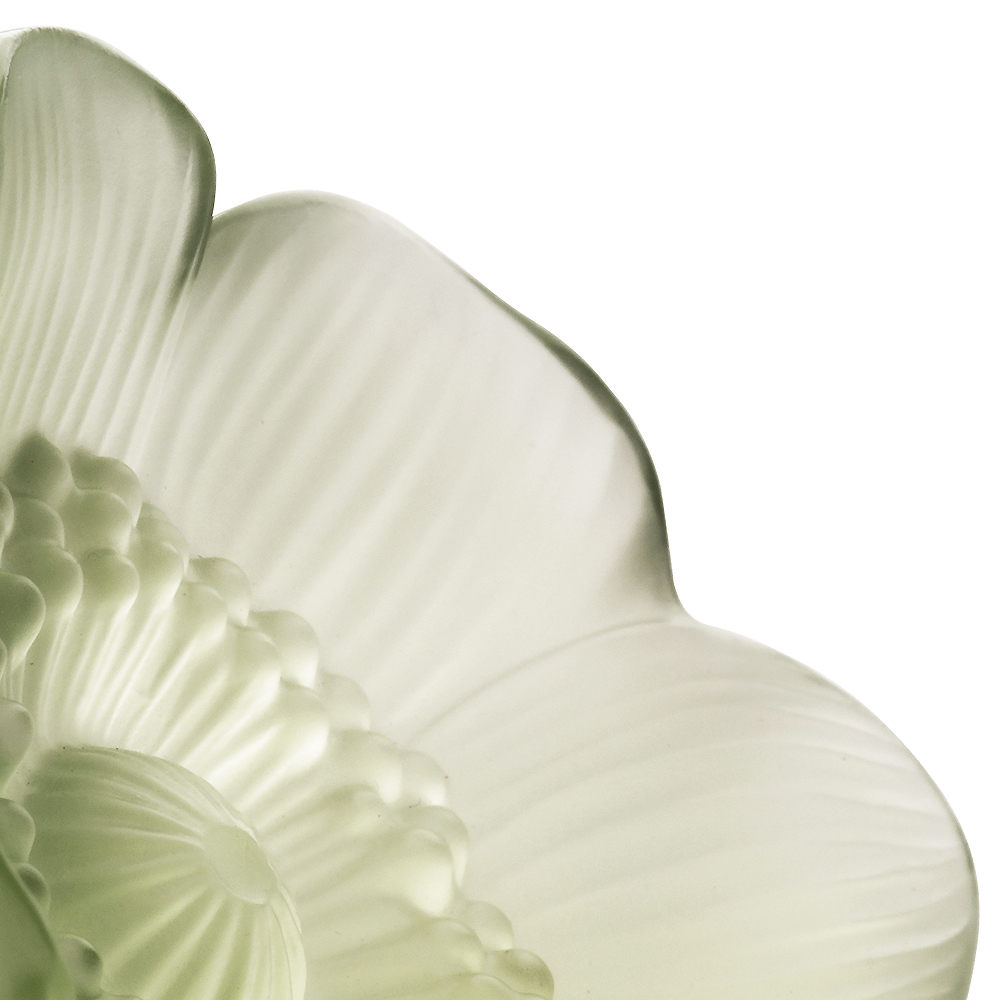 Anemone sculpture | Green crystal, small size | Sculpture Lalique