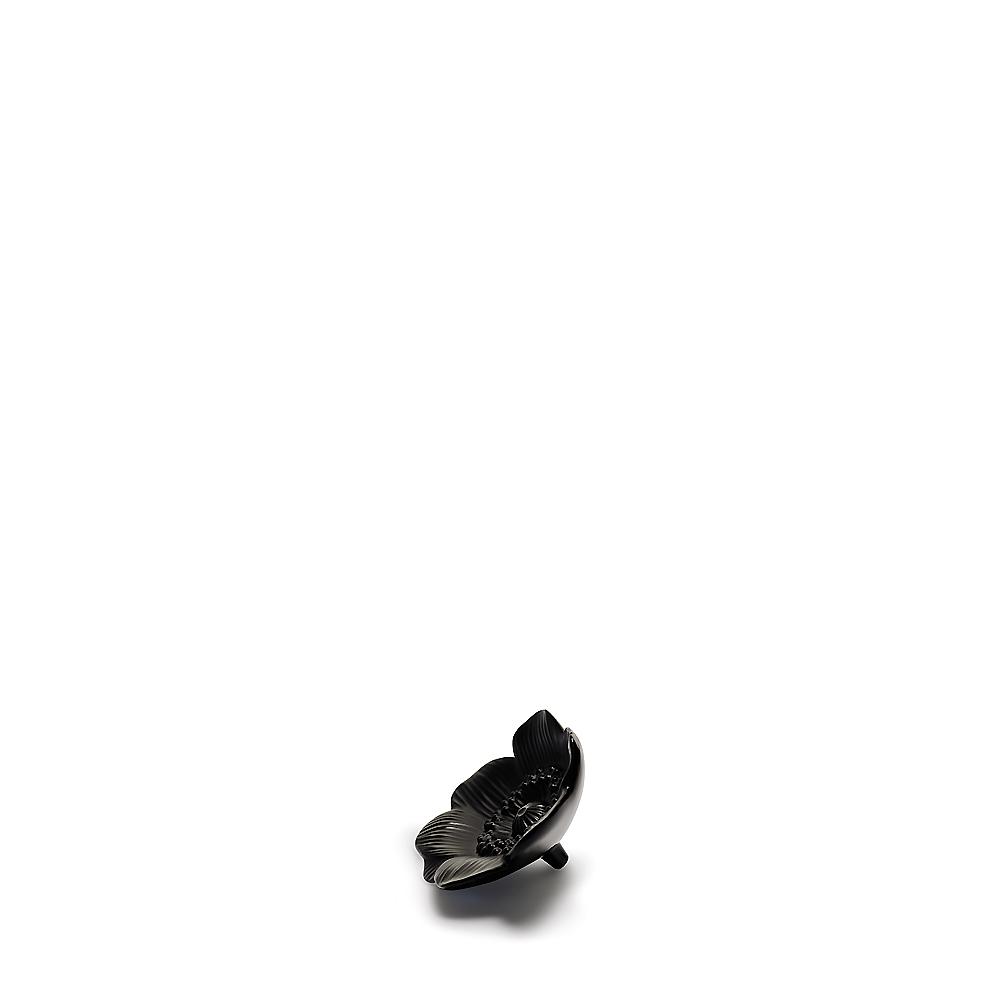 Anemone sculpture | Black crystal, small size | Sculpture Lalique