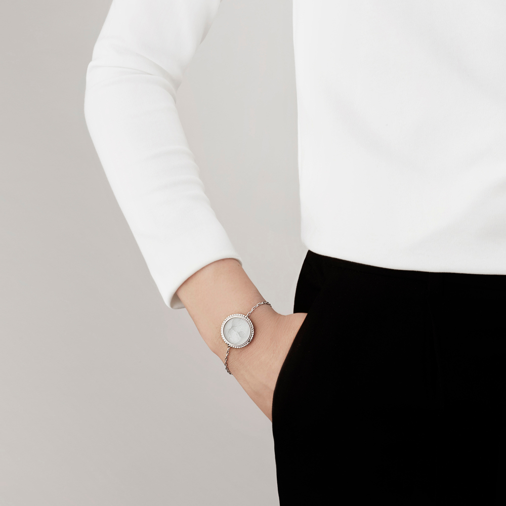 Le Baiser bracelet   Clear crystal, silver   Costume jewellery Lalique