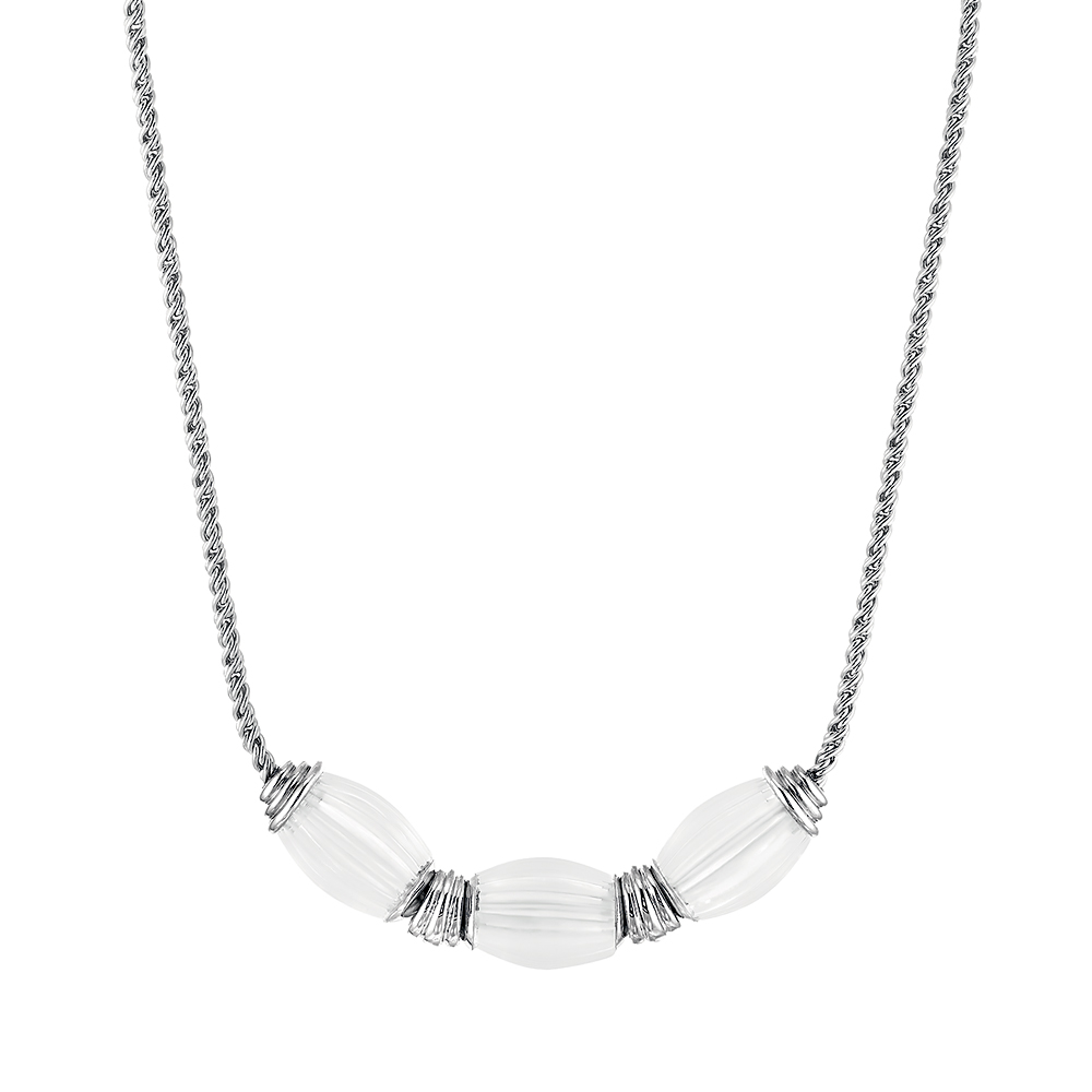 Vibrante necklace | Clear crystal, silver | Costume jewellery Lalique