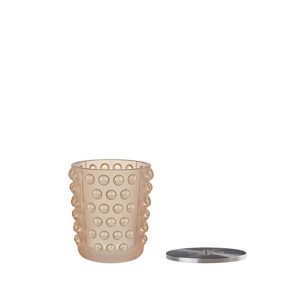 Mossi candle vase | Gold luster crystal, figtree scented | Candleholder & votive Lalique