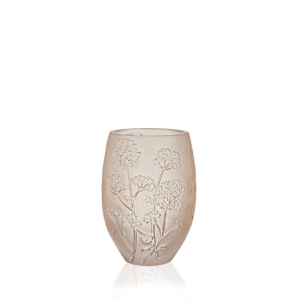 Ombelles vase | Gold luster crystal, medium size | Vase Lalique