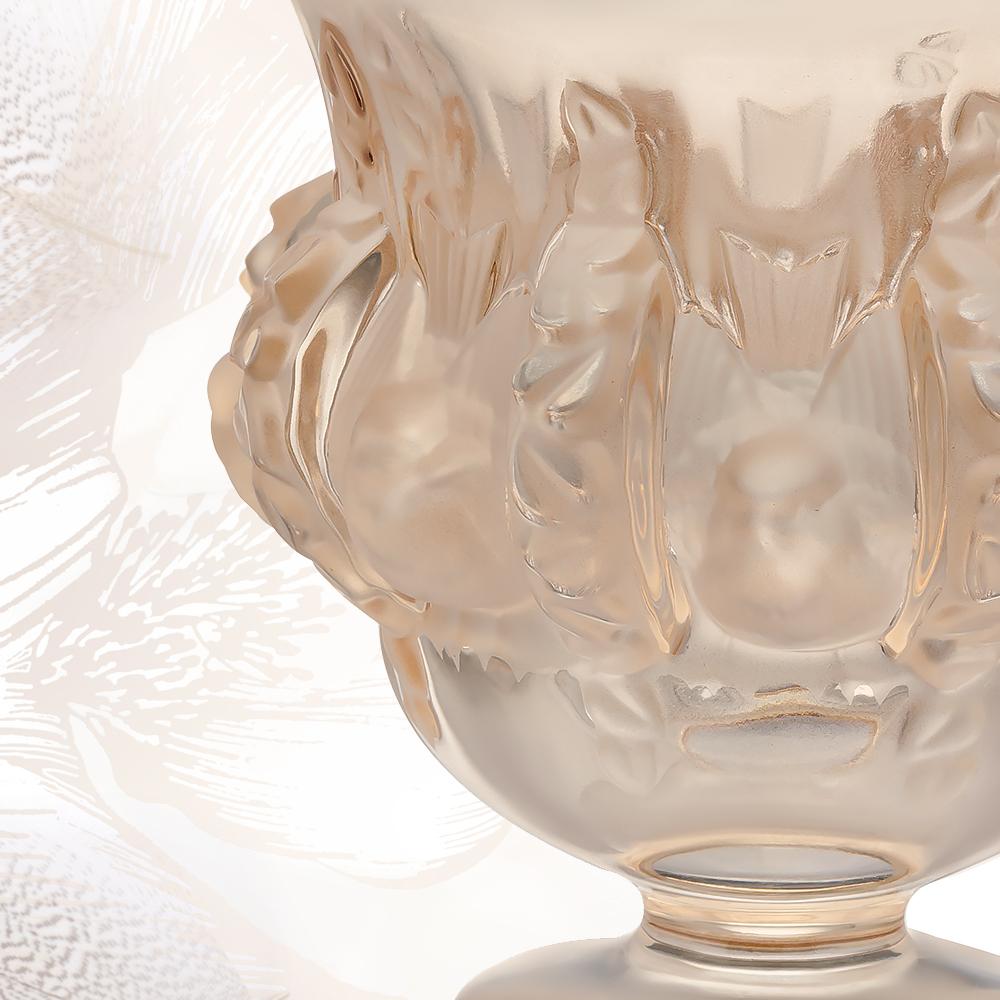 Dampierre vase | Gold luster crystal | Vase Lalique