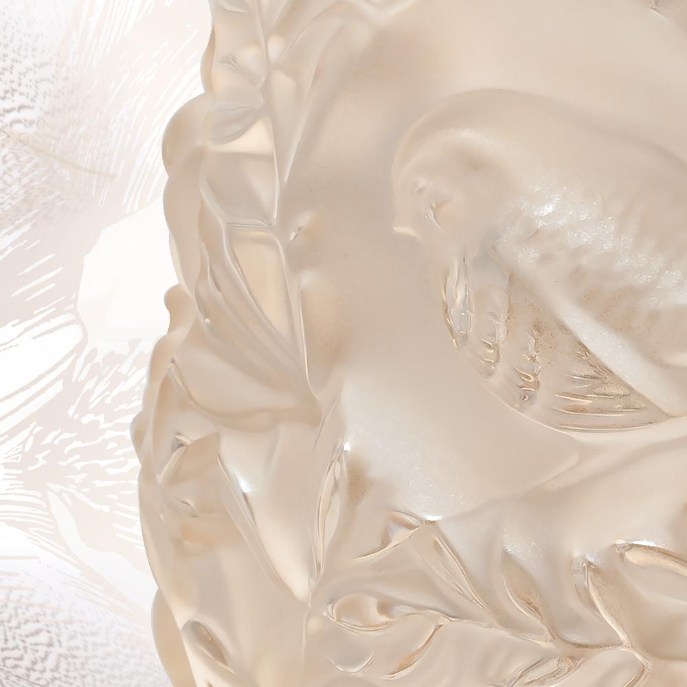 Bagatelle vase | Gold luster crystal | Vase Lalique