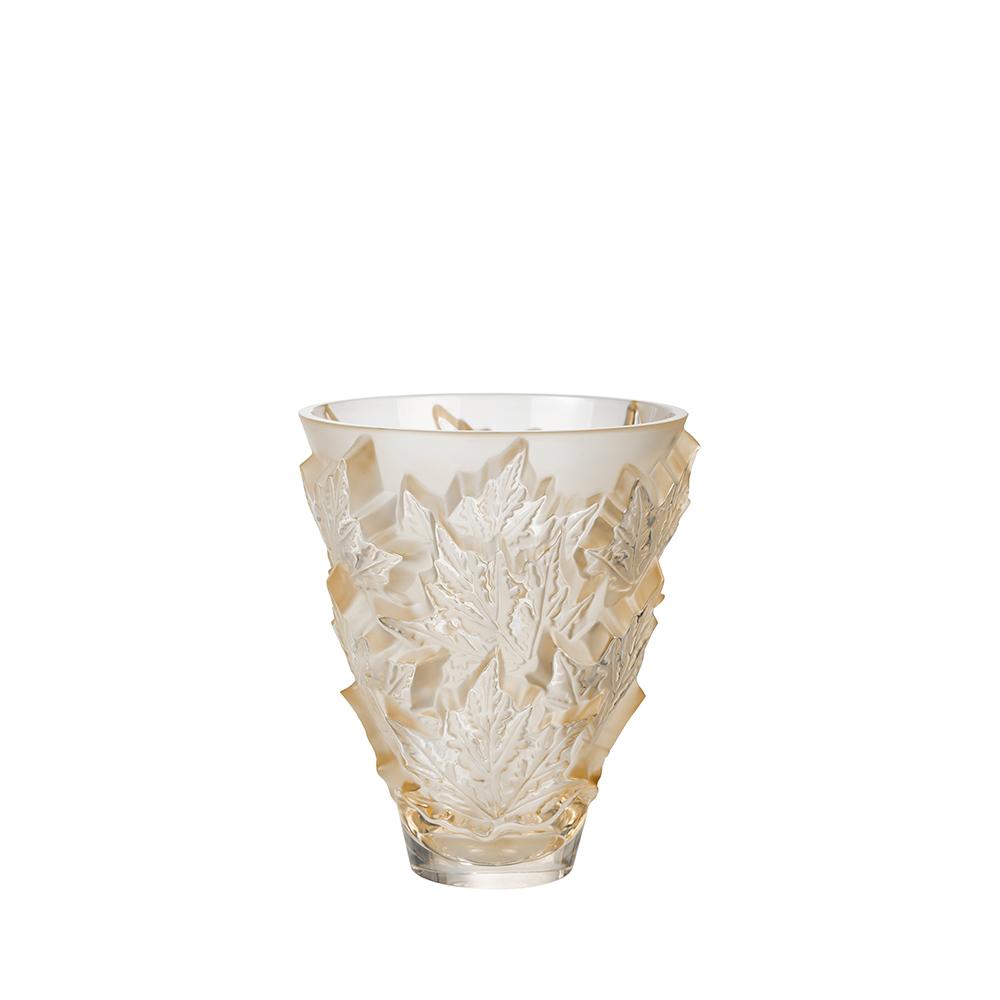Champs-Élysées small vase | Crystal gold luster | Vase Lalique