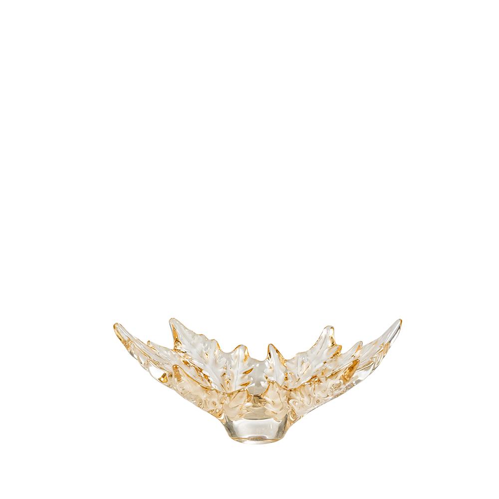 Champs-Élysées small bowl   Gold luster crystal   Bowl Lalique