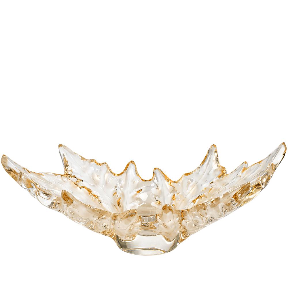 Champs-Élysées grand bowl | Gold luster crystal | Bowl Lalique
