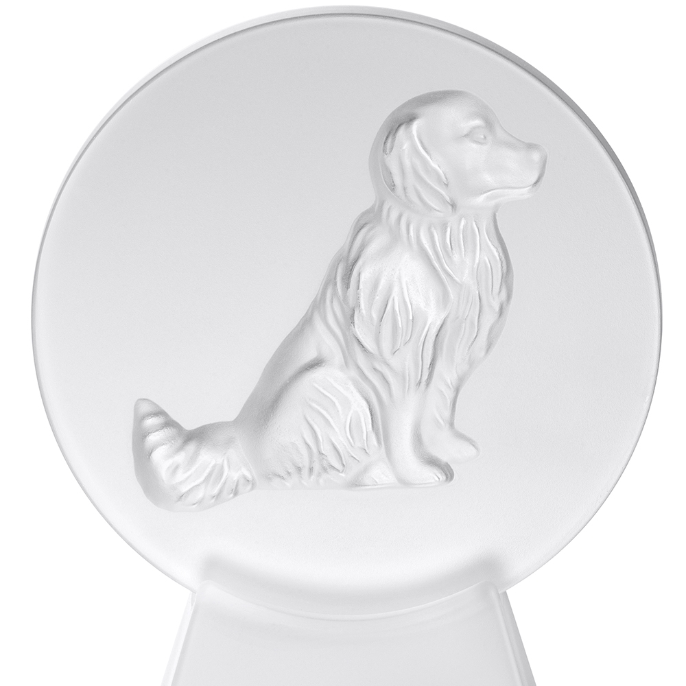 Dog sculpture, paperweight | Clear crystal | Lalique crystal sculpture